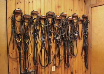 Tack room at Pacific Farms
