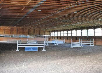 Indoor riding arena at Pacific Farms